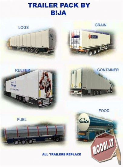 Мод trailer pack для euro truck simulator заменяет