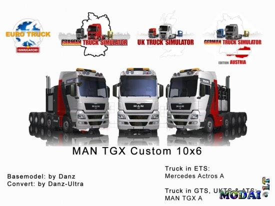 MAN TGX Custom 10x6 for ETS-GTS-UKTS-ATS