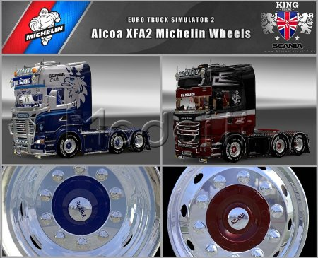 V8K Blaine Alcoa XFA2 Michelin Wheels