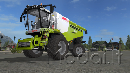 Lexion 780 TT, standard and wide tires