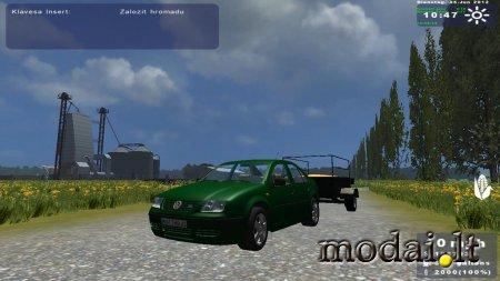 VW Bora and trailer