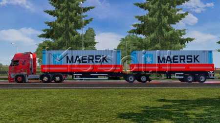 TRAILER GIGALINER WITH CONTAINER