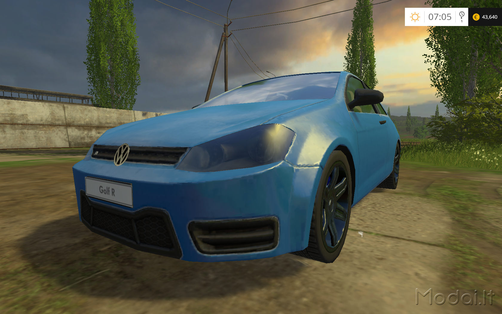 vw golf vii hgp power v 1 3 farming simulator. Black Bedroom Furniture Sets. Home Design Ideas