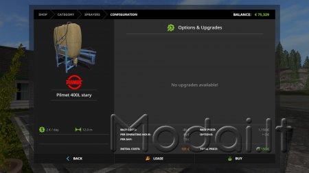 Pilmet 400L Stary Arikson sprayer AddOn supported