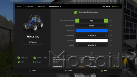 VALTRA N4 STANDARD CAB