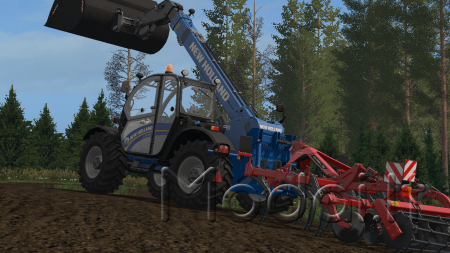 NEW HOLLAND LM 742 WITH REAR HYDRAULICS