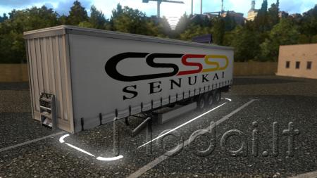"Ets2 trailer skin ""Senukai"" by Aurimasxt"
