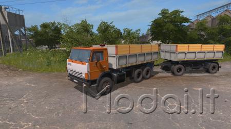 КАМАЗ 55102S И ПРИЦЕП V1.0