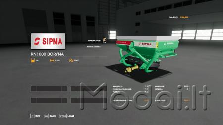 FS19 Sipma RN1000 Boryna v1.0.0.0