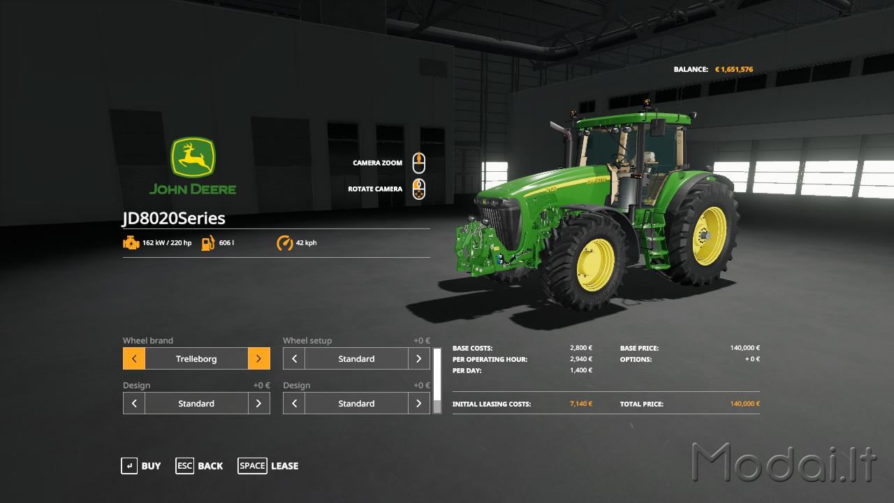 John Deere 8020-8030 » Modai lt - Farming simulator Euro