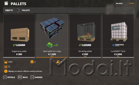 Seed Pallet Baltic Agro Texture